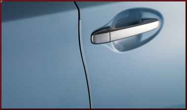 Door Edge Guards - Clear Water Blue Metallic 8W1