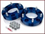 Wheel Spacers, Anodized Blue 5 on 150mm Bolt Circle FREE SHIPPING