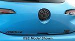 Corolla Hatchback Blackout Emblem Overlays - Gloss Black SE