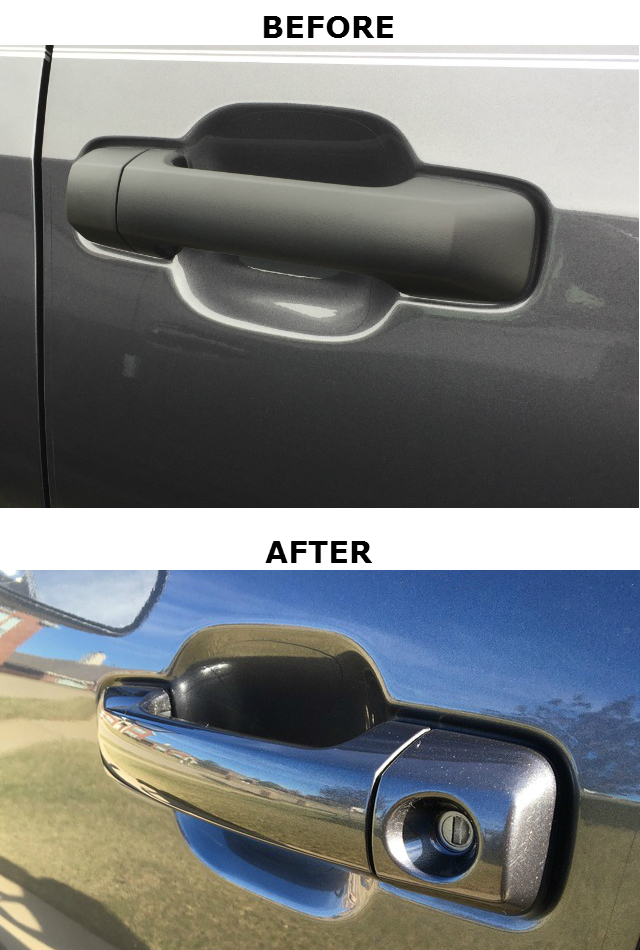 Color Matched Handles and Mirror Caps (Double Cab & Regular Cab)