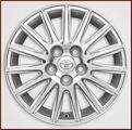 "16"" 15-Spoke Alloy Wheel with Smoke Chrome Finish"