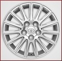 "16"" 15-Spoke Alloy Wheel with Smoke Chrome Finish"