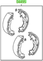 OEM (stock) Rear  Brake Shoes