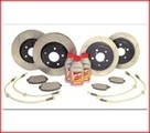 High Performance Stage II Brake Kit Slotted Rotors