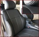 Clazzio Perforated Leather Seat Covers 1ST SEAT WITH POWER ADJUSTABLE