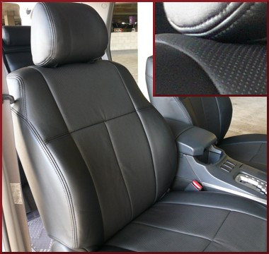 Clazzio Perforated Leather Seat Covers 1ST SEAT WITH MANUAL ADJUST