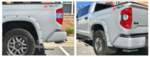 2014+ Tundra Color Keyed Rear Bumper Overlays