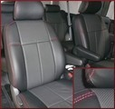 Clazzio Perforated Leather Seat Covers 8 PSGR, FRONT POWER SEAT, SR5