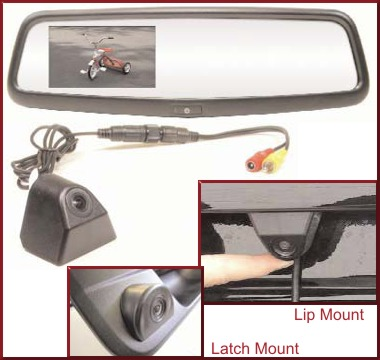 REARSIGHT Camera Rear View Mirror Monitor UNIVERSAL Non-Prewired