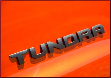 "TRD Pro Badge ""Tundra"" Black LH"