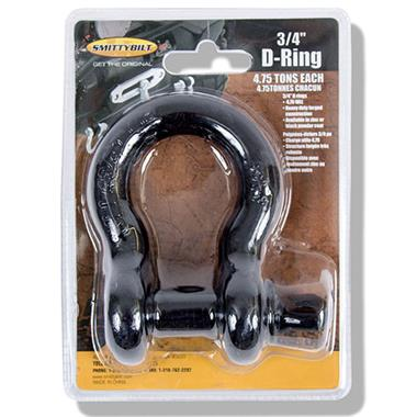3/4 Inch D-Ring Shackle, Black Finish
