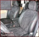 Clazzio Suede Type Seat Covers-Base Mdl NO 3RD ROW COVER
