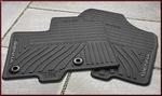 All-Weather Floor Mats - 8-Piece Black