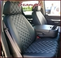 Clazzio Quilted Type Seat Covers SR, SR5, TRD Sport, TRD Off-Road, Driver Manual Seat, WITH FOLD FLAT PASSENGER SEAT