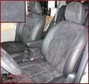 Clazzio Suede Type Seat Covers WITH REAR 60/40 FOLD FLAT SEAT