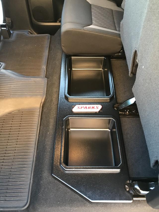 Plastic Rear Under Seat Storage Unit - Crewmax