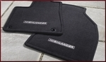 Carpeted Floor Mats For 7 psgr 3rd Row - Black (W/Rear Heater)