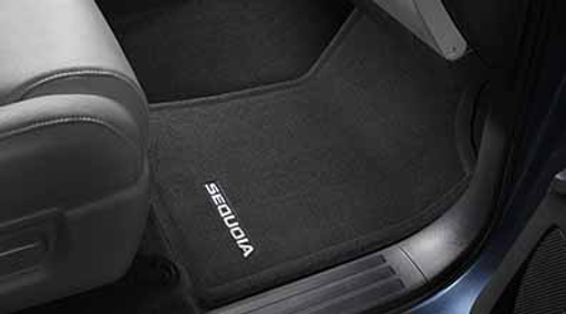 Carpeted Floor Mats For 3rd Row - Black