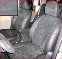 Clazzio Suede Type Seat Covers WITH HEIGHT ADJUSTER