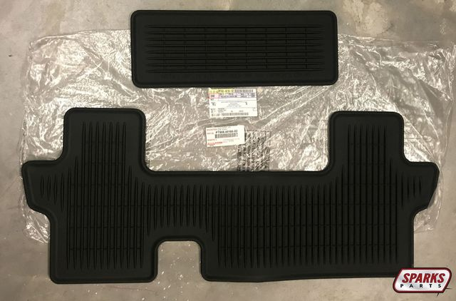 All-Weather Mats - 2-Piece (W/3rd Row, 7 & 8 Passenger)