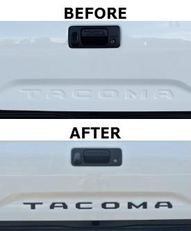 """""""TACOMA"""" Black Tailgate Insert"""