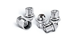 Clear Chrome Wheel Locks - Factory Alloy