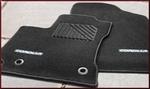 Carpet Floor Mats, 4-pc set, black with blue thread L Model