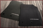 Carpet Floor Mats - Black; 3 pc set