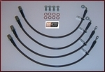 Stainless Steel Braided Brake Line Kit