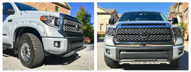2014+ Tundra Color Keyed Front Bumper Overlays