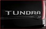 Tailgate Tundra Logo Letter Inserts - Chrome