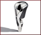 Custom Design Premium Chrome and Leather Shift Knob