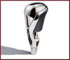 Custom Design Premium Chrome and Leather Shift Knob