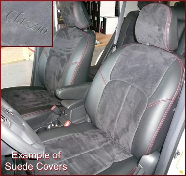 Clazzio Suede Type Seat Covers 1ST SEAT WITH POWER ADJUSTABLE