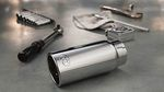 Stainless Steel Exhaust Tip, Chrome Finish