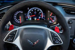 C7 STEERING WHEEL OPTIONS W/ RED OR YELLOW PADDLES AND STITCHING