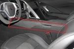 Chevrolet Corvette Driver Side Console Trim Panel - Black Suede