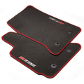 Front Premium Carpet with Z06 Logo, Black with Red Stitch