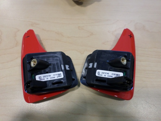 RED AUTO TRANS PADDLE DOWNSHIFT & UPSHIFT SWITCH (RIGHT & LEFT) - GM (23272739 & 23272740)
