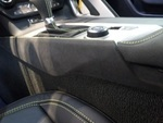 Driver Side Console Trim Panel - Black Suede w/ Yellow Stitching C7.R