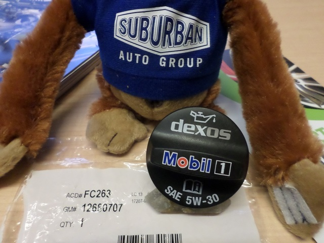 Mobil 1 Logo GM Oil Filler Cap LT1 Wet Sump