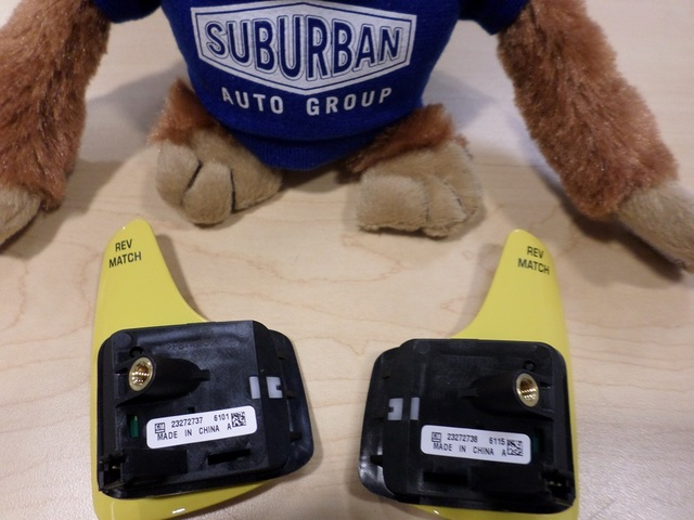 YELLOW MANUAL TRANS PADDLE REV MATCH SWITCH PAIR (RIGHT & LEFT)