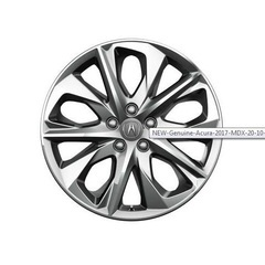 "Genuine Acura 2017 MDX 20"" 10-Spoke Dark Chrome Wheels"