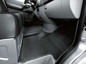 Genuine OEM Mercedes Benz Sprinter Black All Season mats without code H00 (air duct)