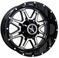 Lonestar Wheels - Outlaw- Gloss Black with Mirror Face
