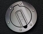Silverhorse Mustang Tru-Billet Fuel Door Black Anodized