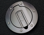 Silverhorse Mustang Tru-Billet Fuel Door Black Anodized