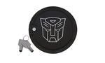 2010-2015 DefenderWorx Transformers Autobot Camaro Locking Fuel Door -Matte Black