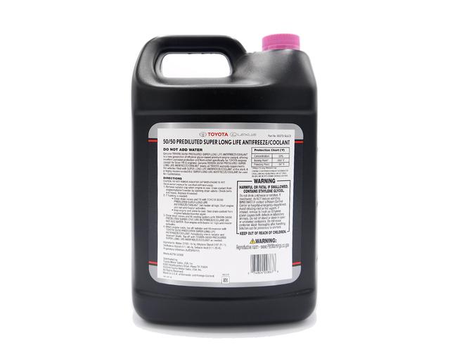 Toyota Super Long Life Antifreeze / Coolant - 50/50 Prediluted (1 Gallon)