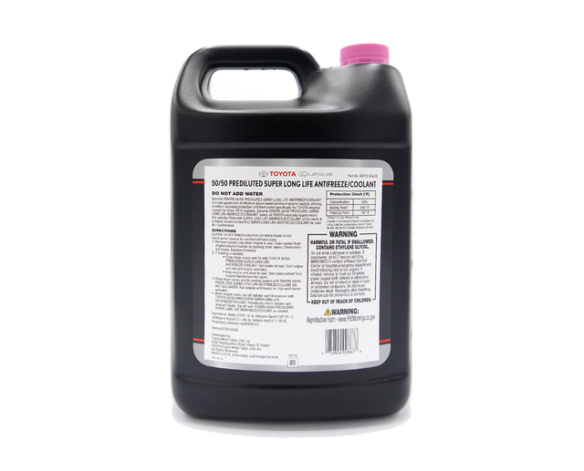 Toyota Super Long Life Antifreeze / Coolant - 50/50 Prediluted (1 Gallon)